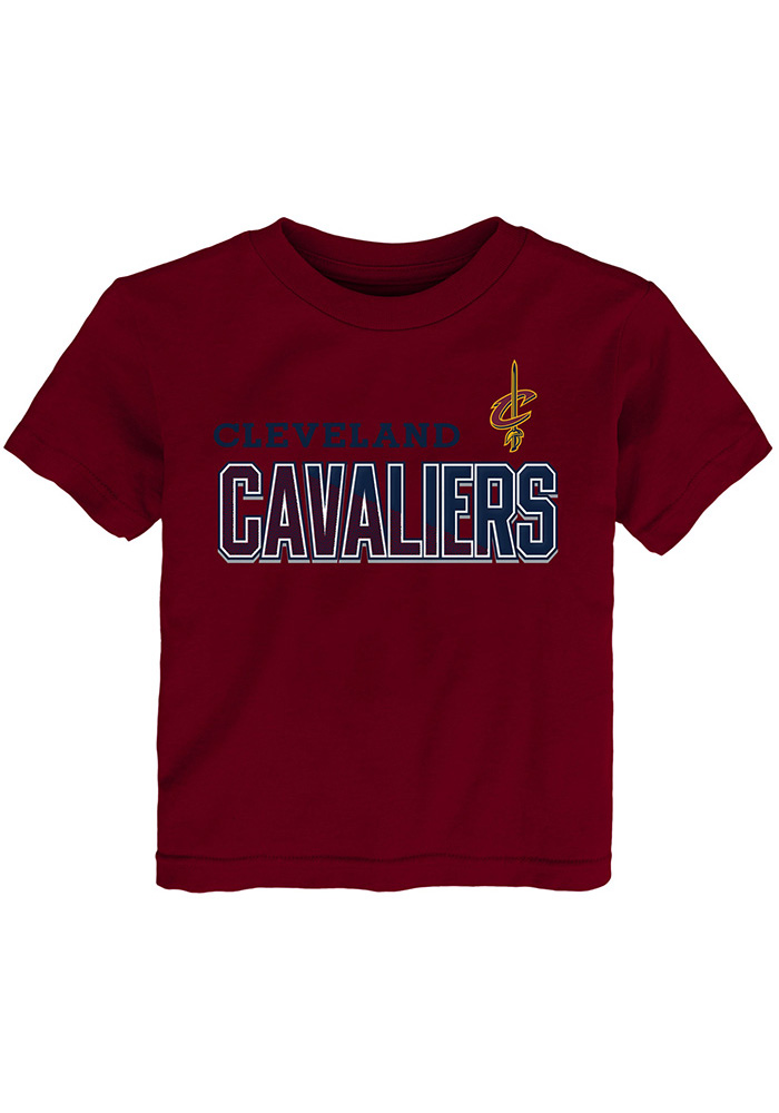 Cleveland Cavaliers Toddler Red Armored Short Sleeve T-Shirt - Image 1