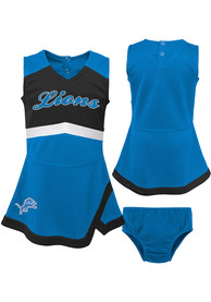 Detroit Lions Toddler Girls Cheer Captain Cheer - Blue