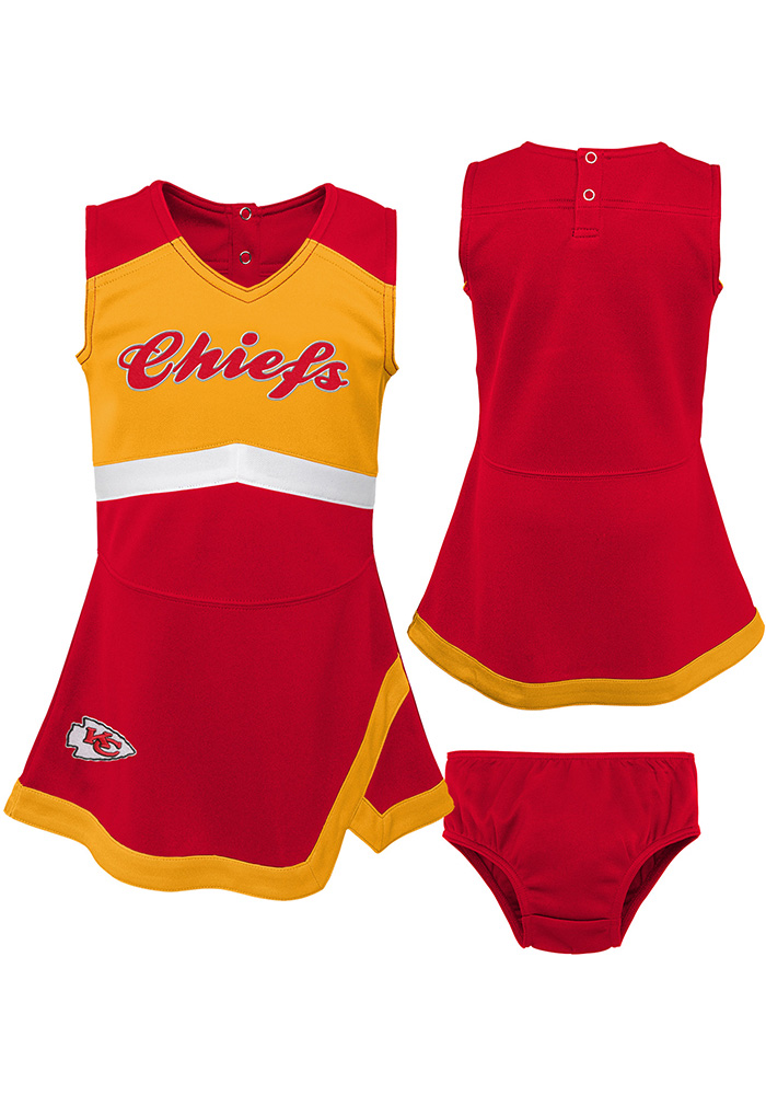 Kansas City Chiefs Toddler Girls Red Cheer Captain Sets Cheer - Image 1