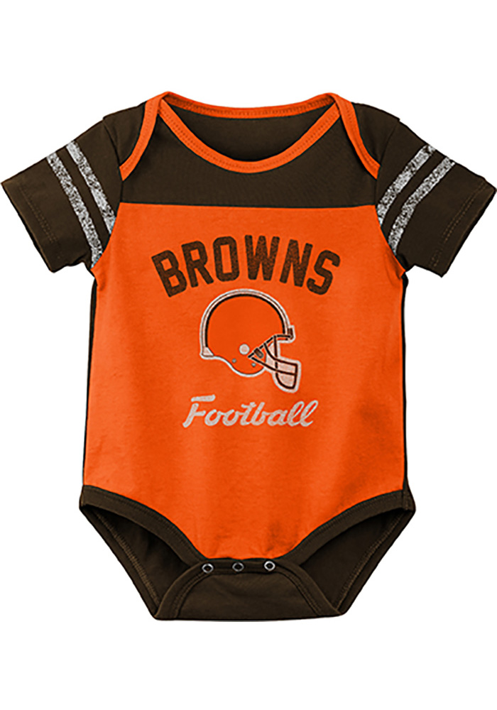 Cleveland Browns Baby Orange Dual-Action One Piece - Image 2