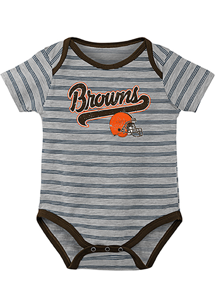 Cleveland Browns Baby Orange Dual-Action One Piece - Image 3