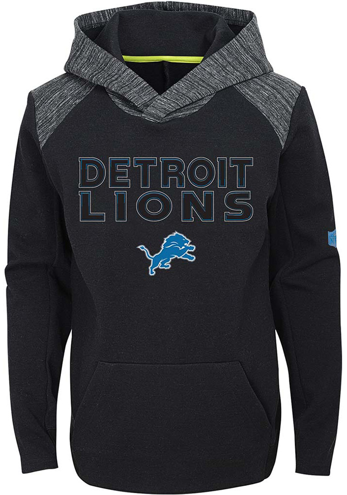 Detroit Lions Youth Black Engage Long Sleeve Hoodie - Image 1