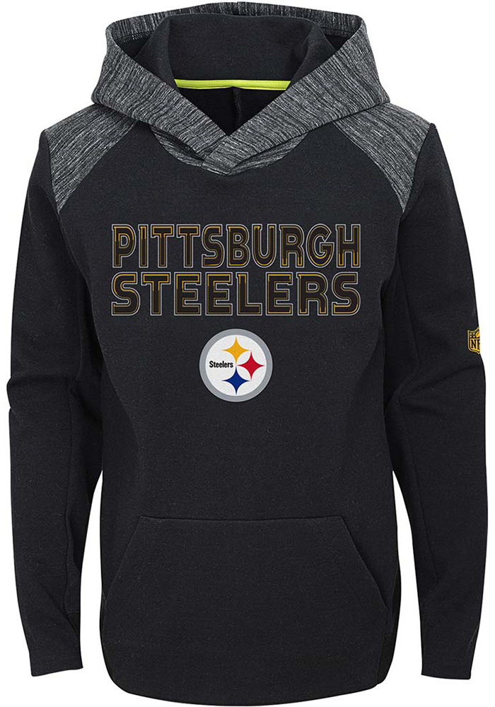 Pittsburgh Steelers Youth Black Engage Hooded Sweatshirt c8454e6ce