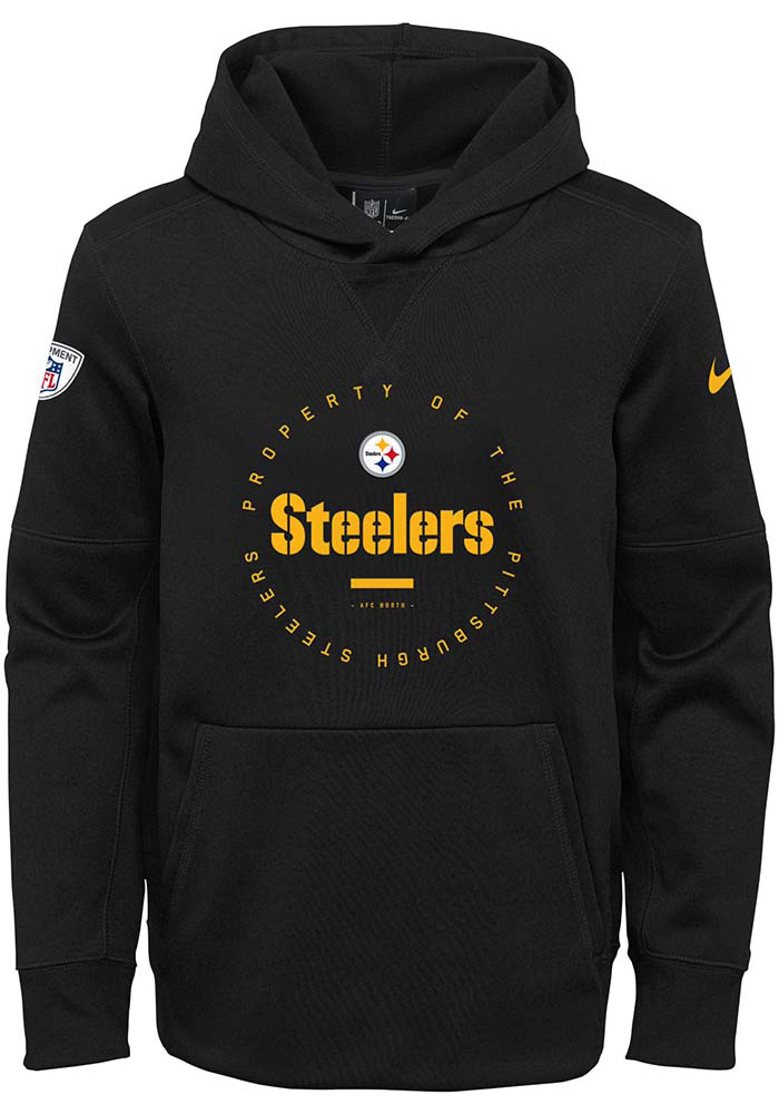 Pittsburgh Steelers Youth Black Property Of Hooded Sweatshirt e6f5684e2