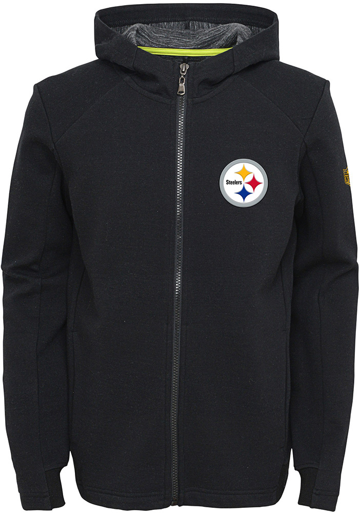 Pittsburgh Steelers Youth Black Acceleration Full Zip Jacket ab4989484