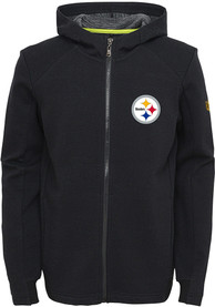 Pittsburgh Steelers Youth Acceleration Full Zip Jacket - Black