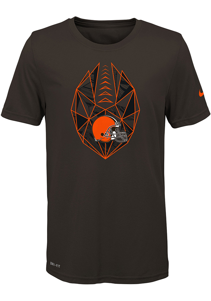 Cleveland Browns Youth Brown Football Icon Short Sleeve T-Shirt - Image 1