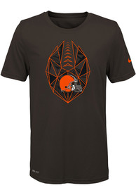 Cleveland Browns Youth Brown Football Icon T-Shirt