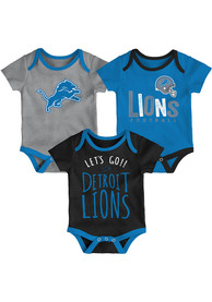 Detroit Lions Baby Little Tailgater One Piece - Blue
