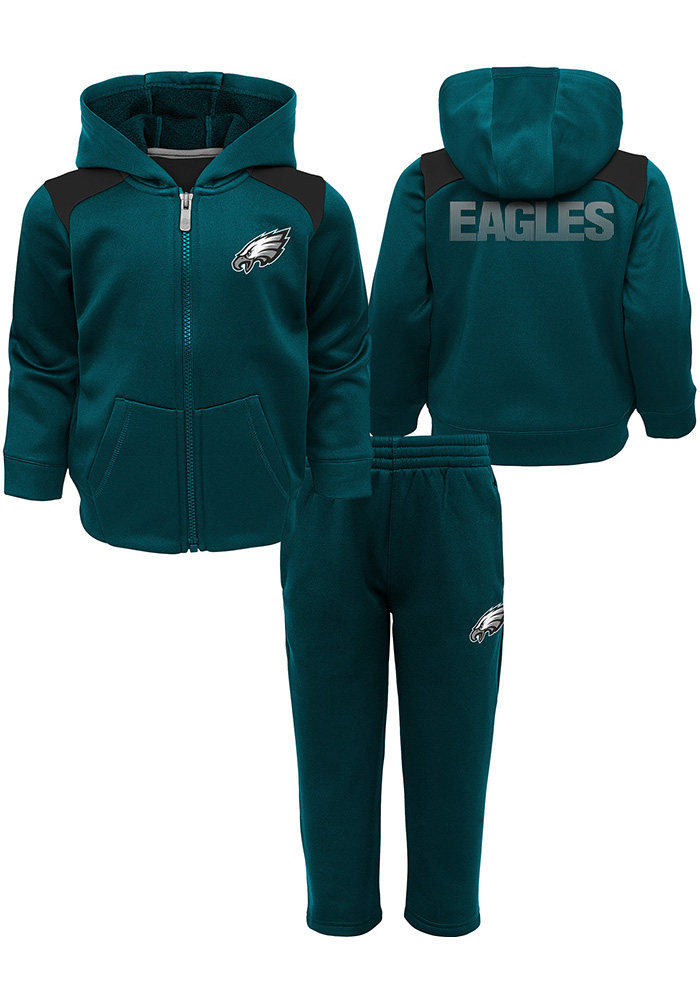 Philadelphia Eagles Toddler Teal Play Action Set Top and Bottom - Image 1