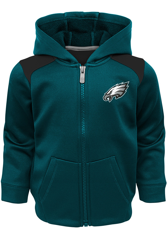 Philadelphia Eagles Toddler Teal Play Action Set Top and Bottom - Image 2