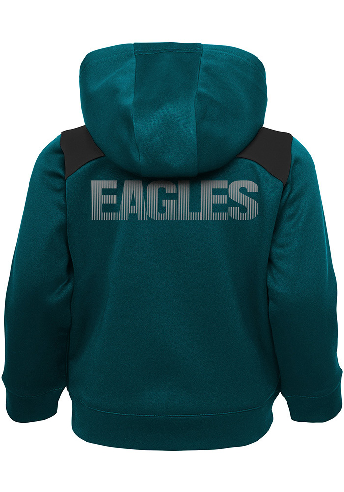 Philadelphia Eagles Toddler Teal Play Action Set Top and Bottom - Image 3