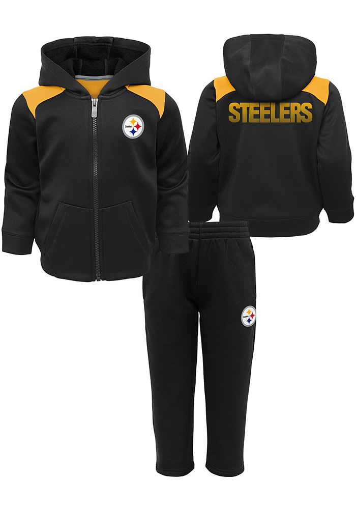 Pittsburgh Steelers Toddler Black Play Action Top and Bottom e542c3de9