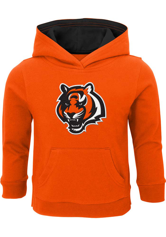 Cincinnati Bengals Toddler Orange Prime Long Sleeve Hooded Sweatshirt - Image 1
