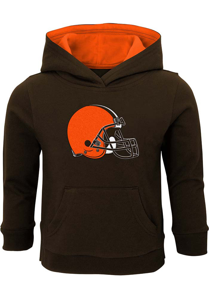 Cleveland Browns Toddler Brown Prime Long Sleeve Hooded Sweatshirt - Image 1
