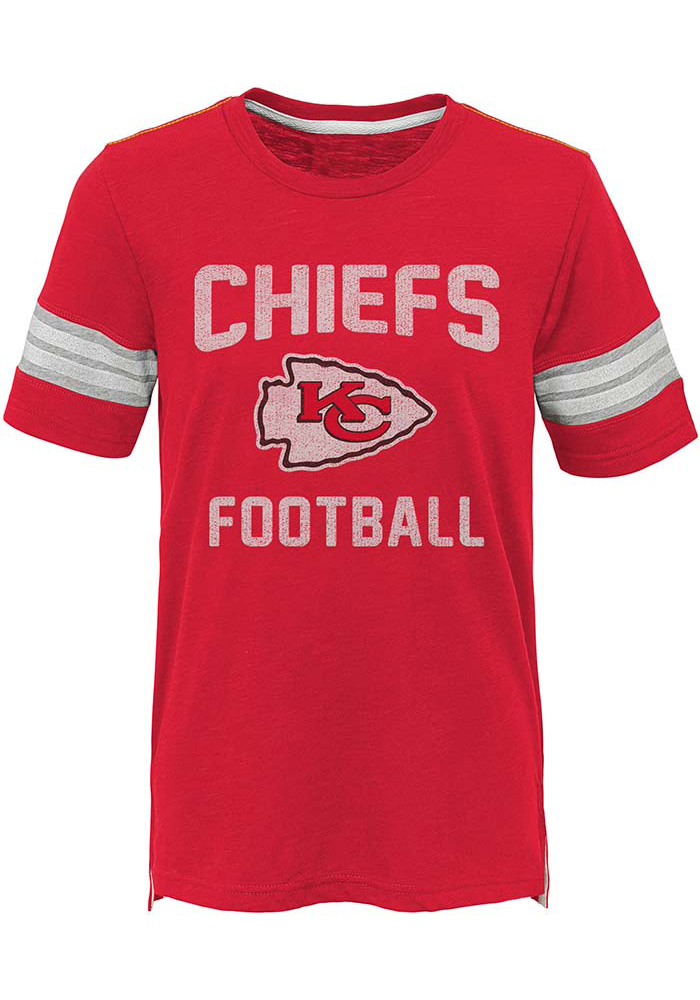 Kansas City Chiefs Youth Red Prestige Short Sleeve Fashion T-Shirt - Image 1