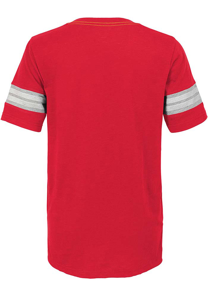 Kansas City Chiefs Youth Red Prestige Short Sleeve Fashion T-Shirt - Image 2