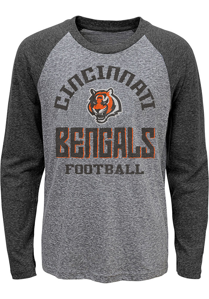 Cincinnati Bengals Youth Classic Gridiron T-Shirt - Grey