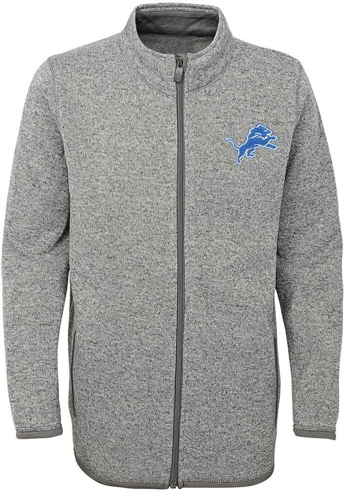 Detroit Lions Youth Grey Lima Light Weight Jacket - Image 1