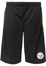 Pittsburgh Steelers Youth Vector Shorts - Black