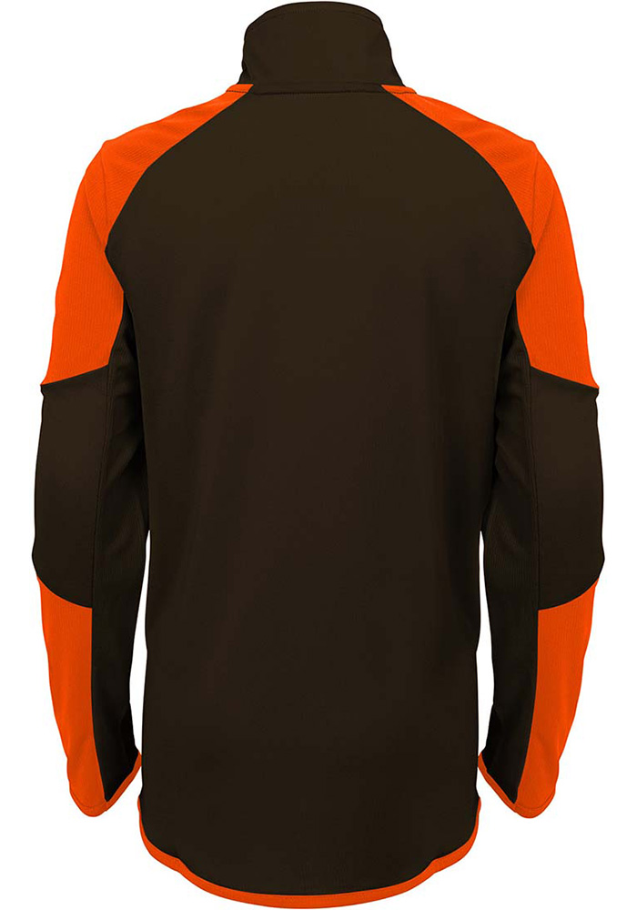 Cleveland Browns Youth Brown Beta Long Sleeve Quarter Zip Shirt - Image 3