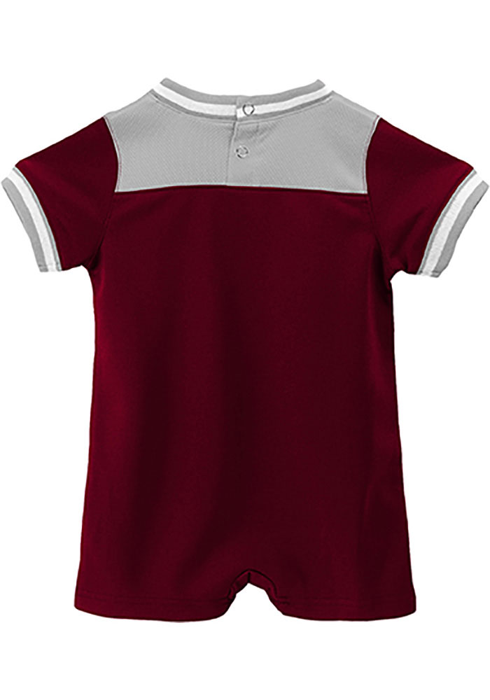 Texas A&M Aggies Baby Maroon Game-Day Short Sleeve One Piece - Image 2