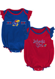 Kansas Jayhawks Baby Homecoming One Piece - Blue