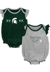 Michigan State Spartans Baby Homecoming One Piece - Green