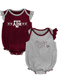 Texas A&M Aggies Baby Homecoming One Piece - Maroon