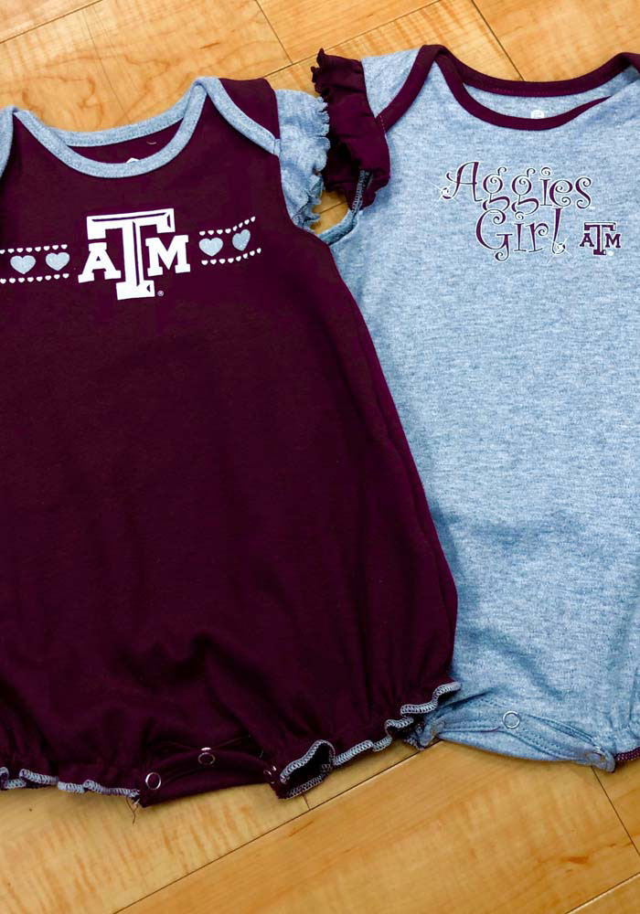Texas A&M Aggies Baby Maroon Homecoming Set One Piece - Image 4
