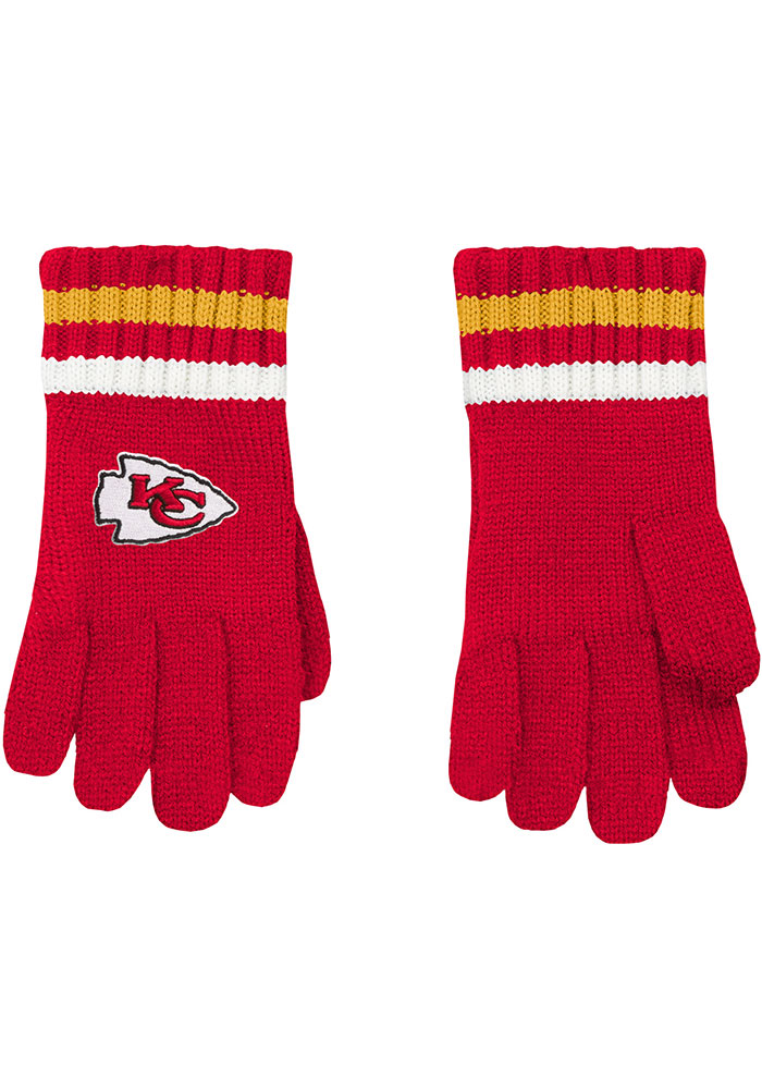 Kansas City Chiefs Knit Youth Gloves - Image 1