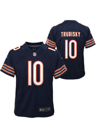Mitch Trubisky Chicago Bears Youth Nike Gameday Football Jersey - Navy Blue
