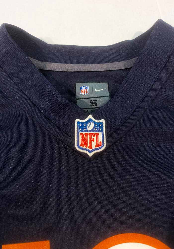 Mitch Trubisky Chicago Bears Youth Navy Blue Nike Gameday Football Jersey - Image 3