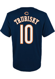 Mitch Trubisky Chicago Bears Youth Player T-Shirt - Navy Blue