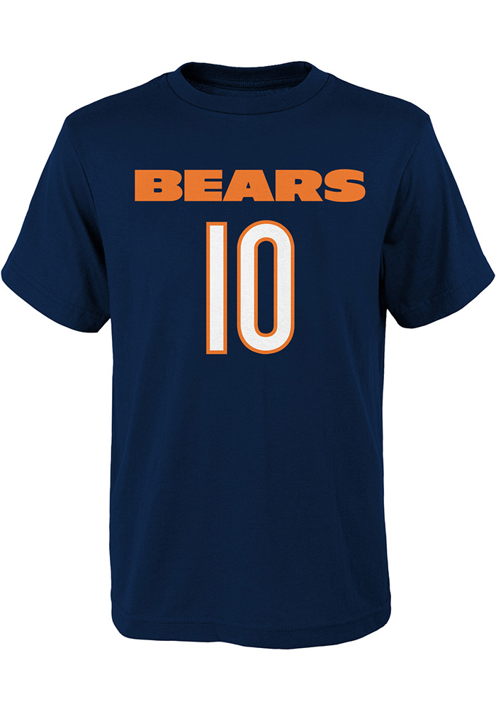 Mitch Trubisky Chicago Bears Youth Navy Blue Player Player Tee - Image 2