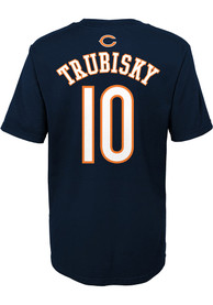 Mitch Trubisky Chicago Bears Boys Outer Stuff Player T-Shirt - Navy Blue