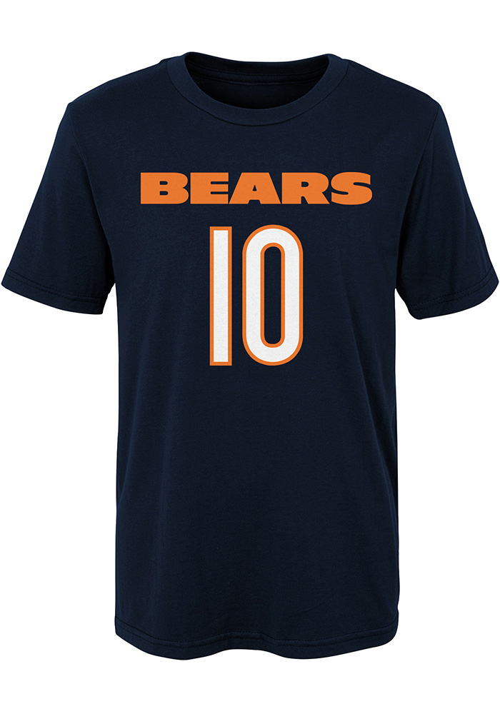 Mitch Trubisky Chicago Bears Boys Navy Blue Player Short Sleeve T-Shirt - Image 2