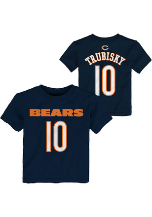 Mitch Trubisky Chicago Bears Toddler Navy Blue Player Player Tee c066ce728