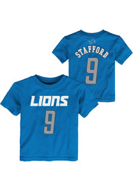 Matthew Stafford Detroit Lions Toddler Outer Stuff Player T-Shirt - Blue