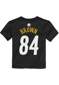Antonio Brown Pittsburgh Steelers Toddler Black Player Player Tee
