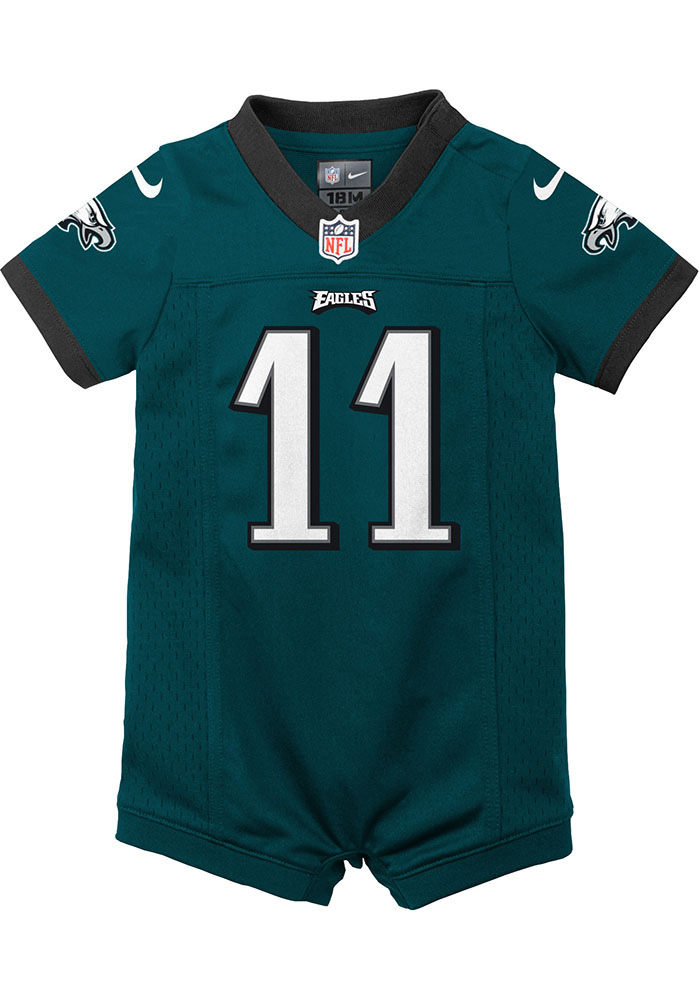 Carson Wentz Philadelphia Eagles Baby Midnight Green Jersey Romper Jersey Football Jersey - Image 2