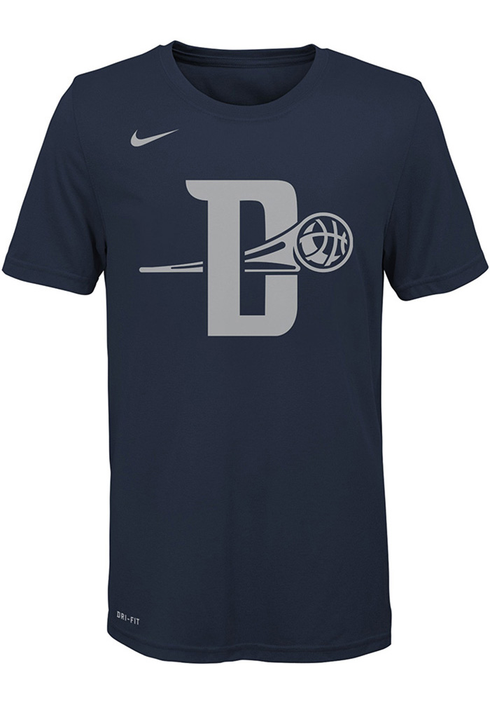 Detroit Pistons Youth Navy Blue City Edition Short Sleeve T-Shirt - Image 1