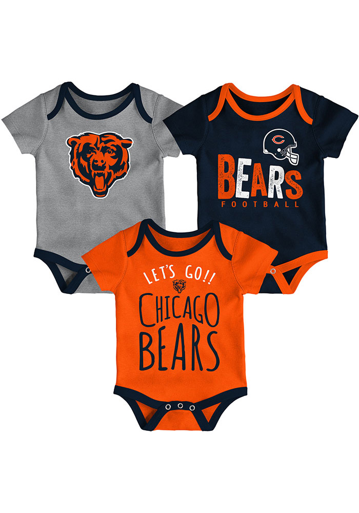 Chicago Bears Baby Navy Blue Little Tailgater One Piece - Image 1