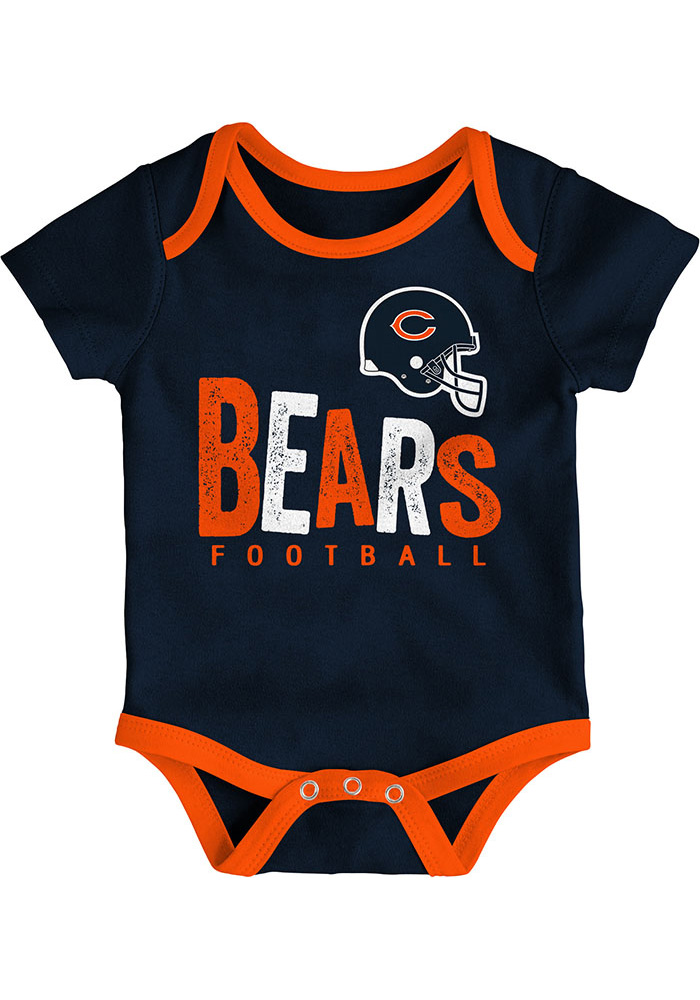 Chicago Bears Baby Navy Blue Little Tailgater One Piece - Image 2