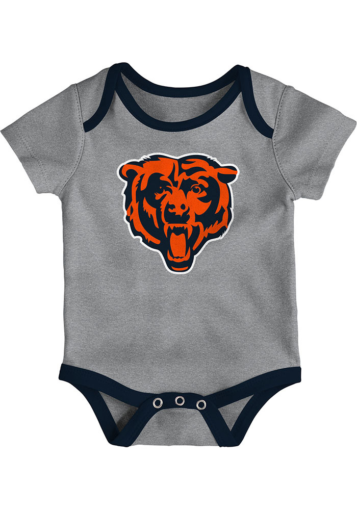 Chicago Bears Baby Navy Blue Little Tailgater One Piece - Image 4