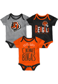 Cincinnati Bengals Baby Little Tailgater One Piece - Black