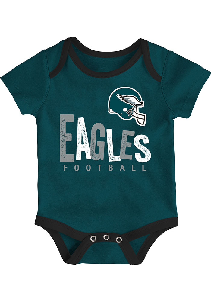 Philadelphia Eagles Baby Teal Little Tailgater One Piece - Image 2