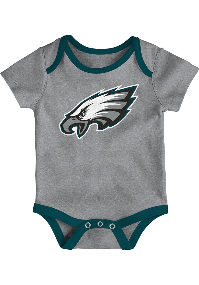 Philadelphia Eagles Baby Teal Little Tailgater One Piece - Image 4