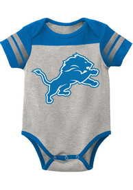 Detroit Lions Baby Lil Blocker 2.0 One Piece - Grey