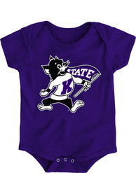 K-State Wildcats Baby Purple Secondary Logo One Piece